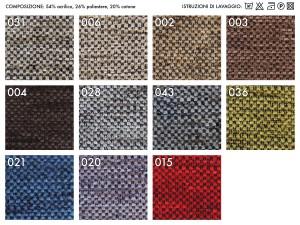 Colori disponibili per le poltrone relax e anziani con rivestimento in tessuto CRAN