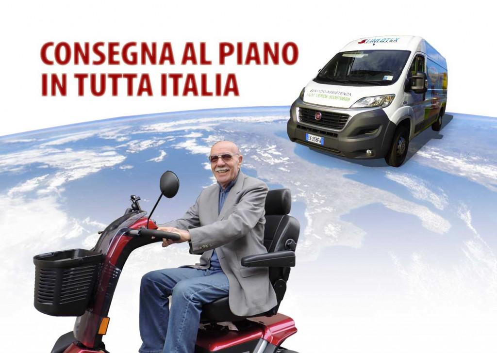 CONSEGNA SCOOTER ANZIANI DISABILI ITALIA