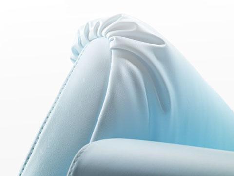 Dettaglio sfoderabilità totale poltrona relax con reclinazione manuale jenny