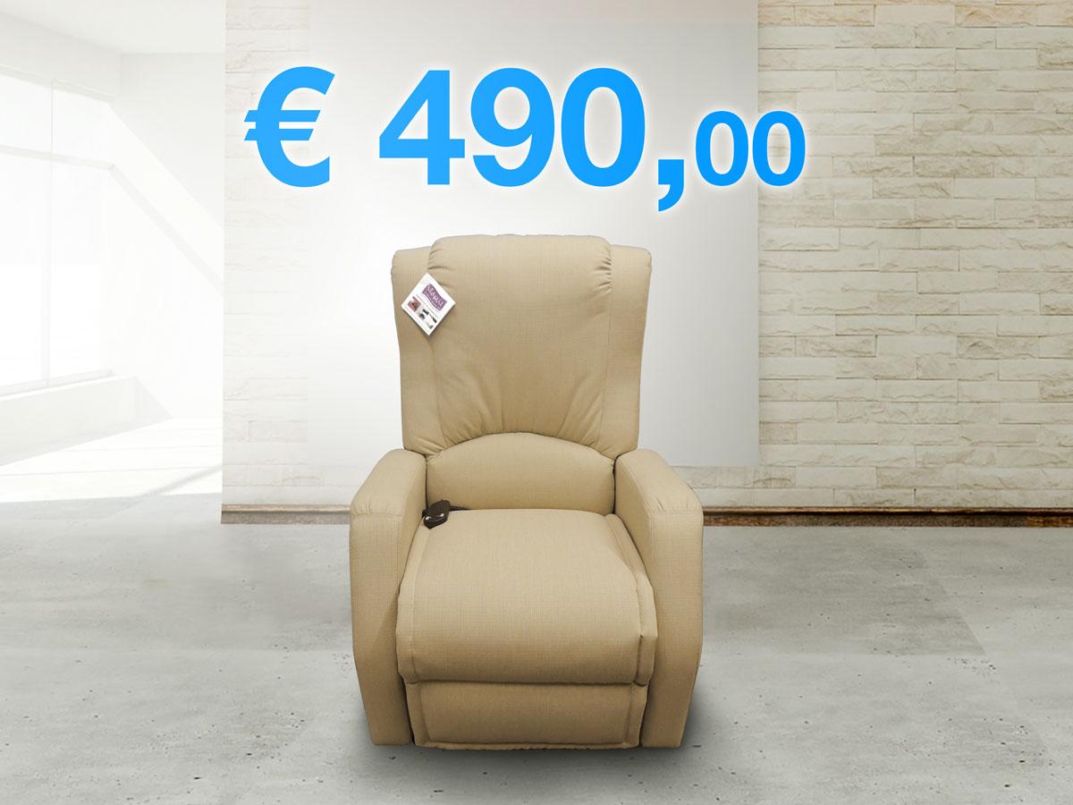 Offerta poltrona relax lucrezia con divano in omaggio poltrona