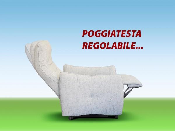 POLTRONA RELAX ERGONOMICA POGGIATESTA REGOLABILE