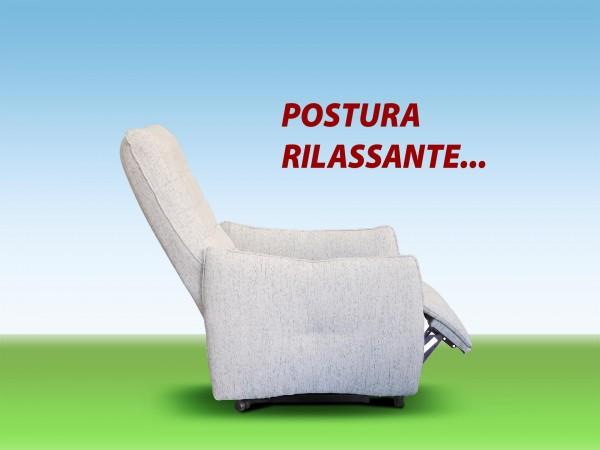 POLTRONA RELAX ERGONOMICA POSTURA RILASSANTE