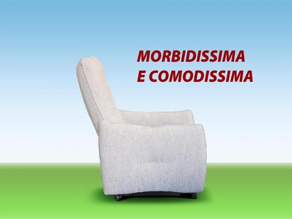 POLTRONA RELAX ERGONOMICA CON SCHIENALE ALTO MORBIDISSIMA E COMODISSIMA
