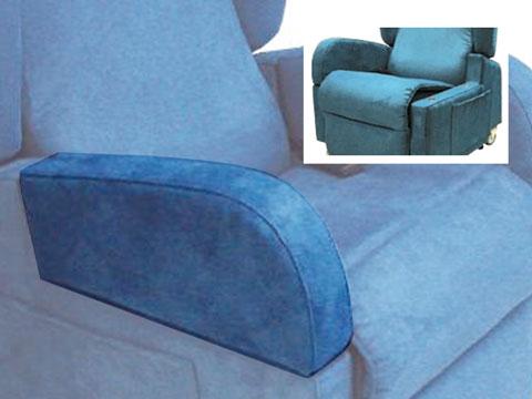 Dettaglio poltrona reclinabile per disabili con braccioli staccabili