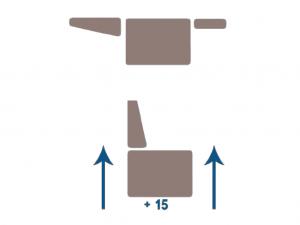 SOLLEVAMENTO VERTICALE 15 cm POLTRONA ROBOTICA