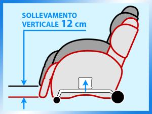 SOLLEVAMENTO VERTICALE 12cm POLTRONA RELAX ROBOTICA