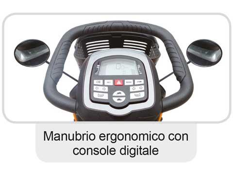 Manubrio ergonomico con console digitale