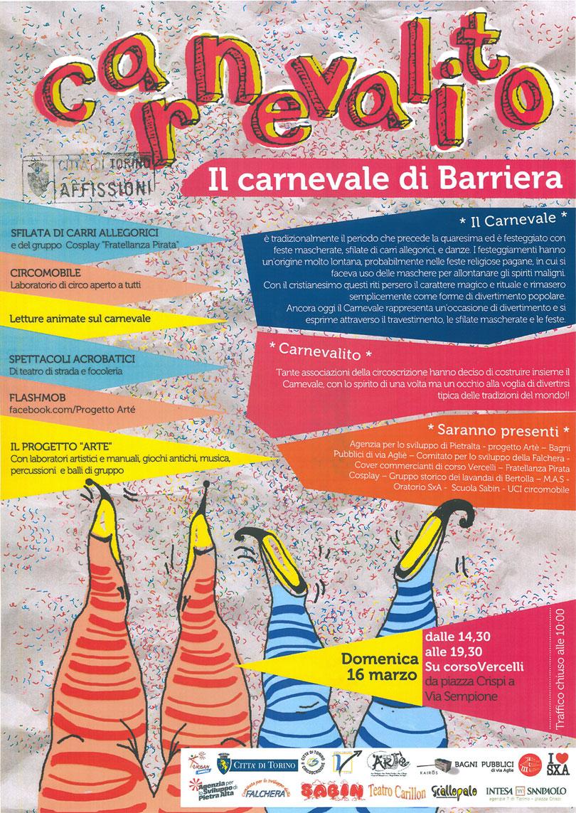 CARNEVALITO 2014 - IL CARNEVALE DELLA BARRIERA - TORINO