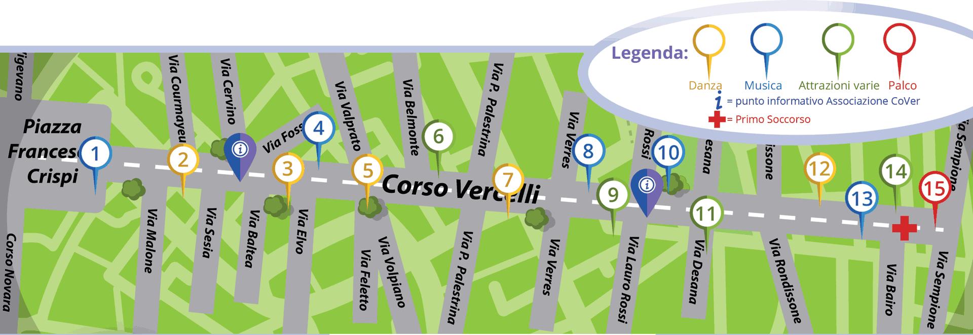 mappa eventi Street Music Fest