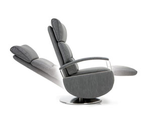 movimenti pediera e schienale poltrone relax design