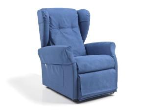 poltrone anziani con rotelle con kit copri poltrona blu