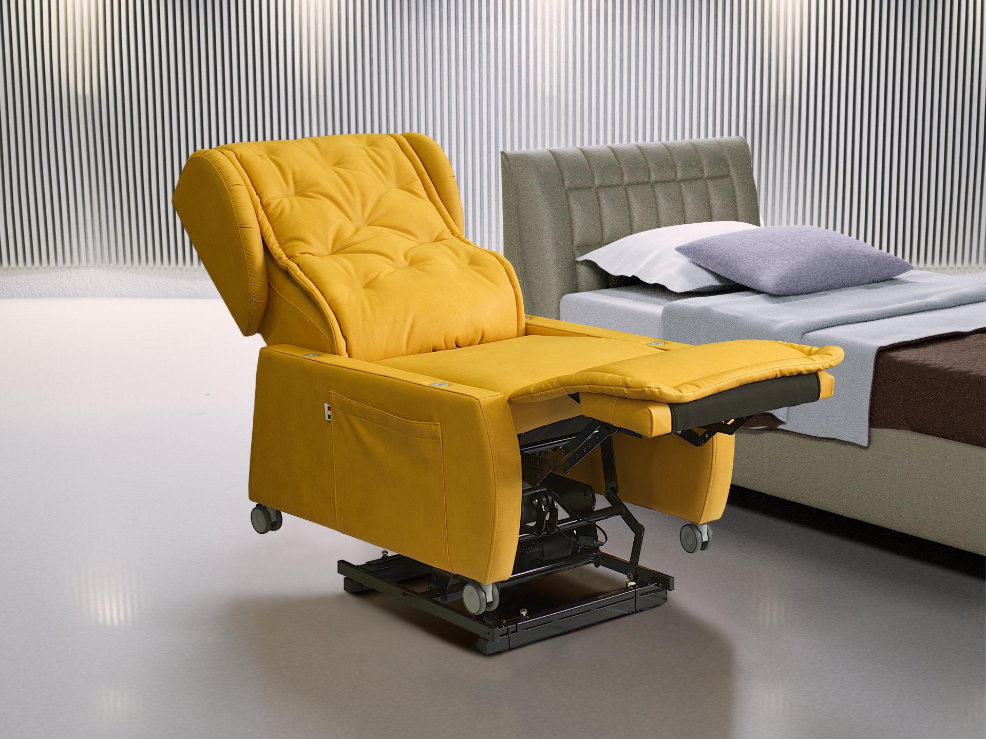Poltrona disabili multifunzionale italiana