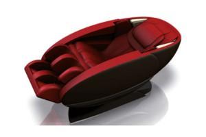 Poltrona massaggiante professionale due colori rosso nero