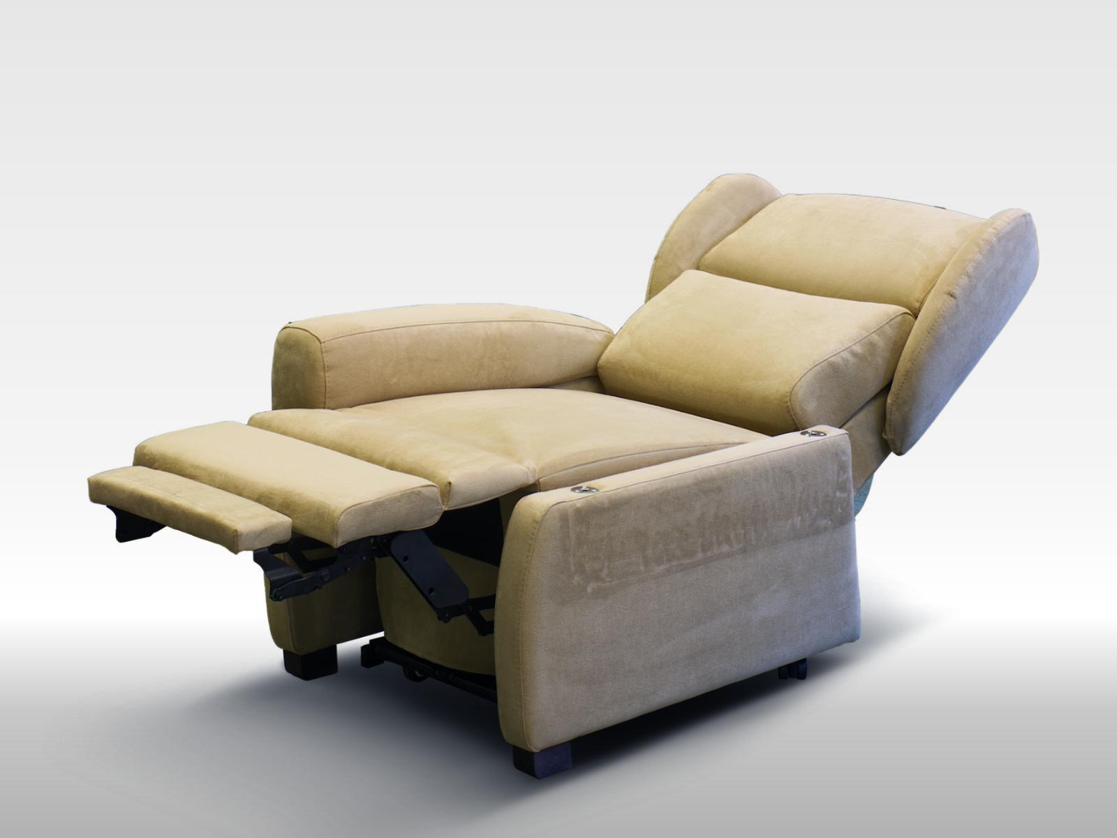 Poltrona per anziani comoda reclinabile a motori