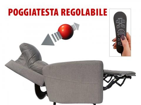 POLTRONA RELAX 4 MOTORI POGGIATESTA REGOLABILE