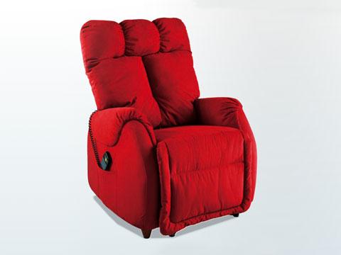 poltrona relax anziani ades rossa