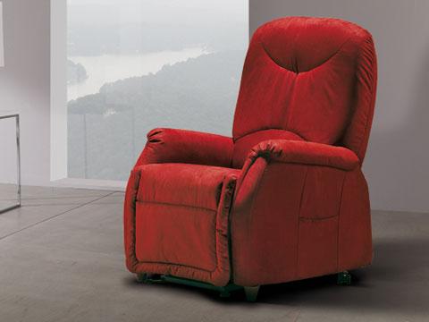 poltrona relax anziani ansen rossa