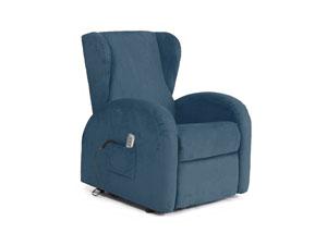 poltrona relax elettrica blu