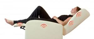 poltrona relax elettrica massaggiante