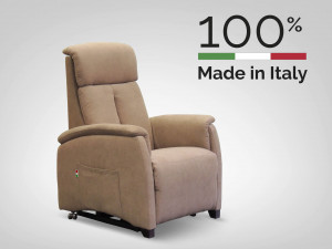 poltrona relax piccola elevabile made in italy
