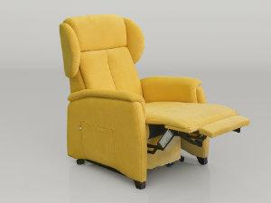 poltrona relax piccola posizione TV gambe sollevate
