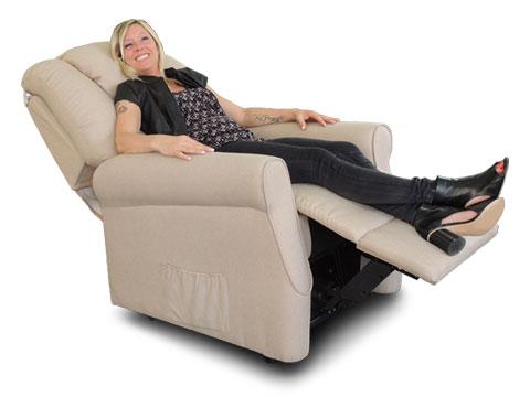 poltrona traspirante con molle insacchettate relax