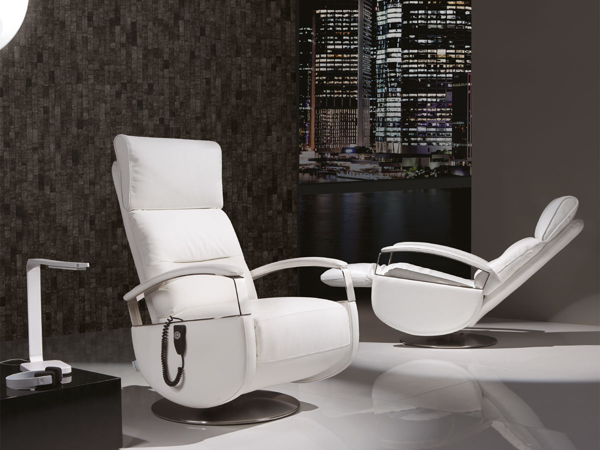 poltrone relax design bianche