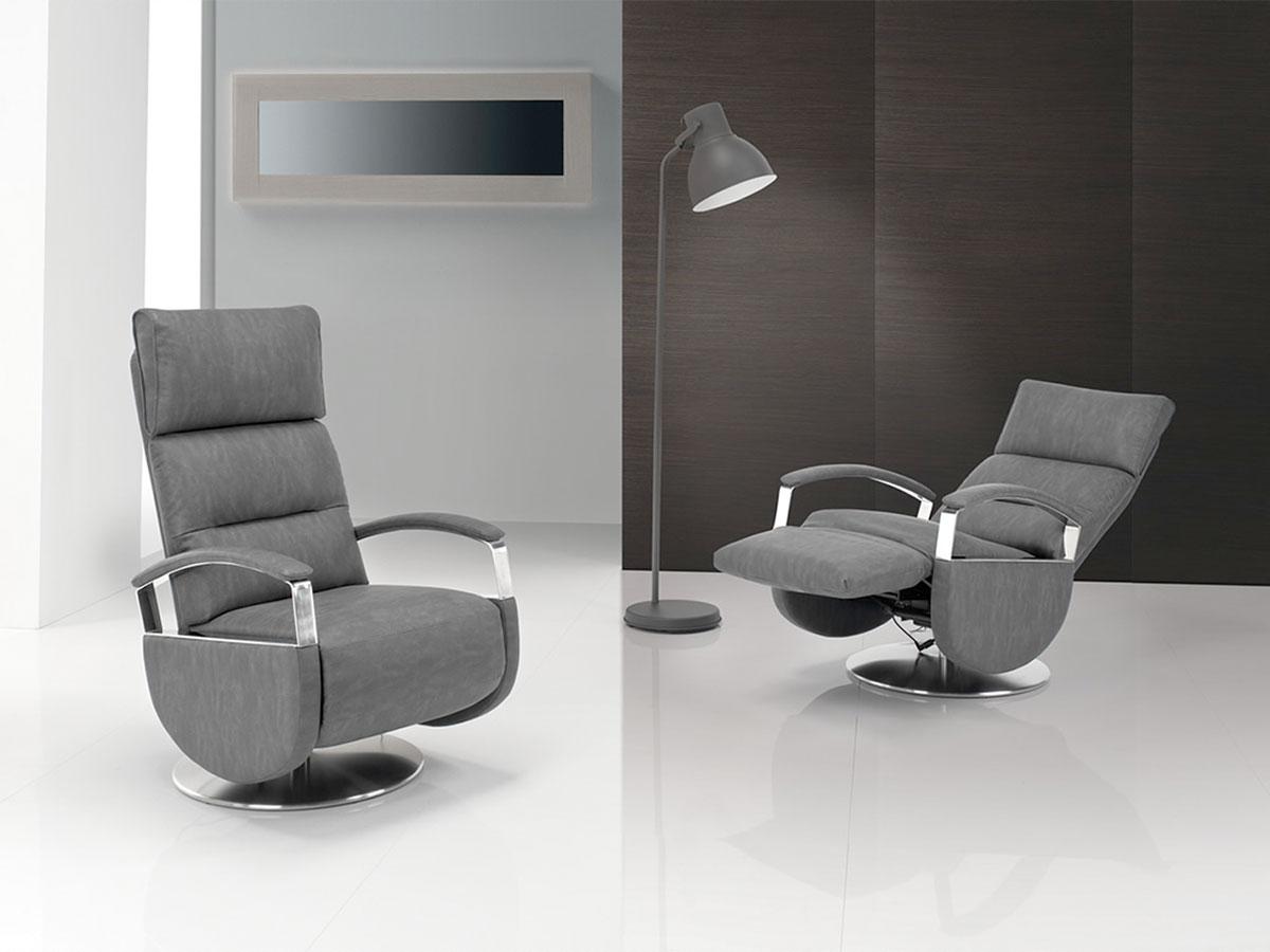 poltrone relax design grigie