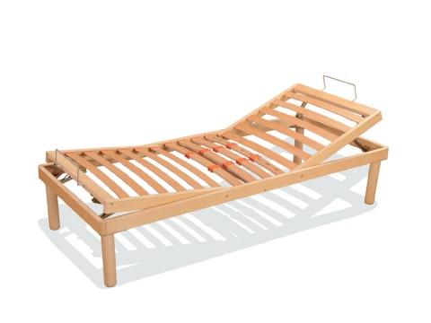 Reti a doghe in legno singole con testa e piedi alzate manualmente