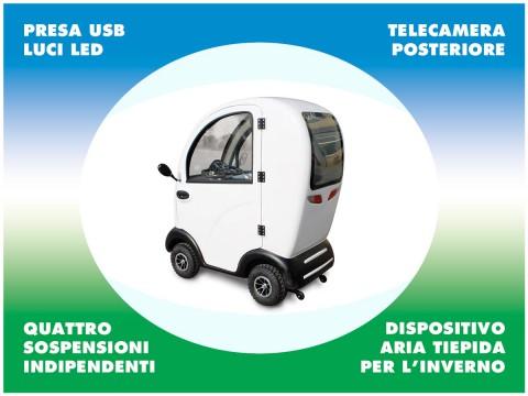 scooter cabinato per anziani e disabili 4 ruote con sospensioni indipendenti