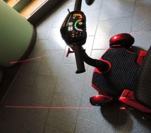scooter disabili pieghevole guida con tracciato laser