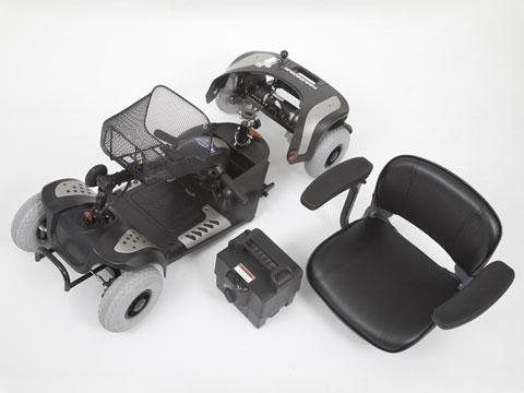 scooter trasportabile in auto GIOIA smontato