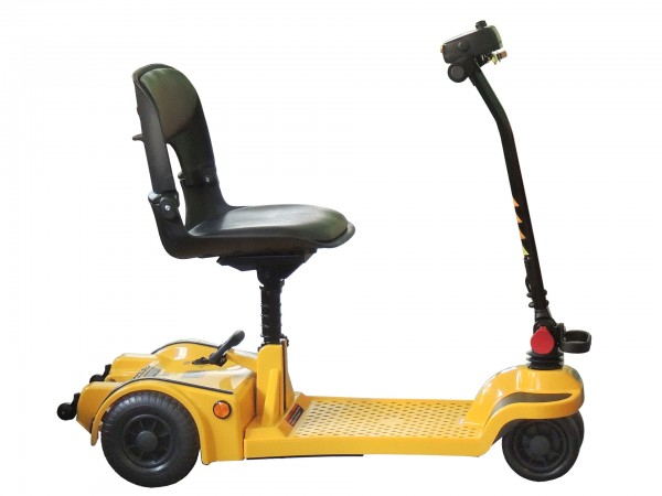scooter pieghevole trolley di lato con manubrio dritto