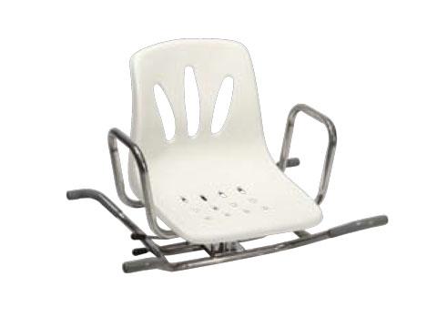 Sedia girevole in acciaio inox per vasca da bagno ba28 poltrone relax e scooter elettrici per - Sedia da bagno per disabili ...