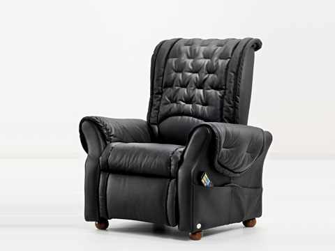 poltrona relax massaggiante simona nera