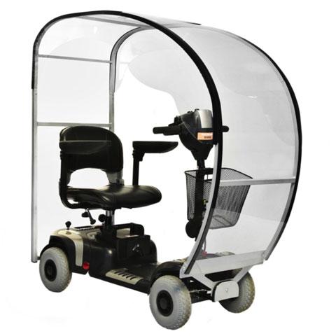 scooter elettrici anziani disabili con copertura antipioggia