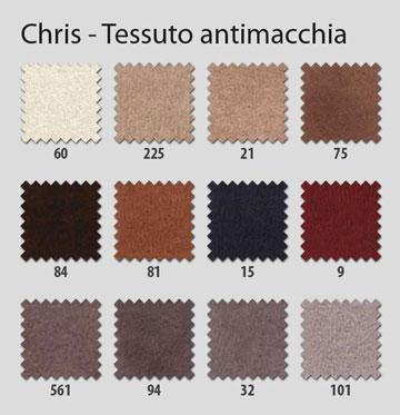 rivestimenti poltrone relax Chris tessuto antimacchia